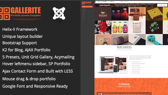 Joomla Template: TM Gallerite - Draggable Image Boxes Grid Gallery Joomla Template