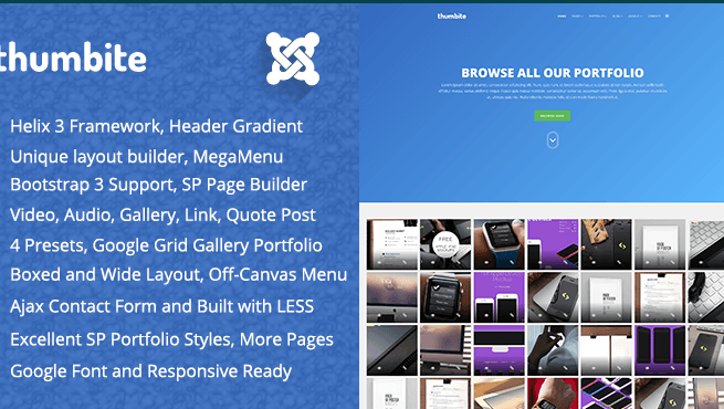 Joomla Template: TM Thumbite - Google Grid Gallery and Portfolio Joomla Template