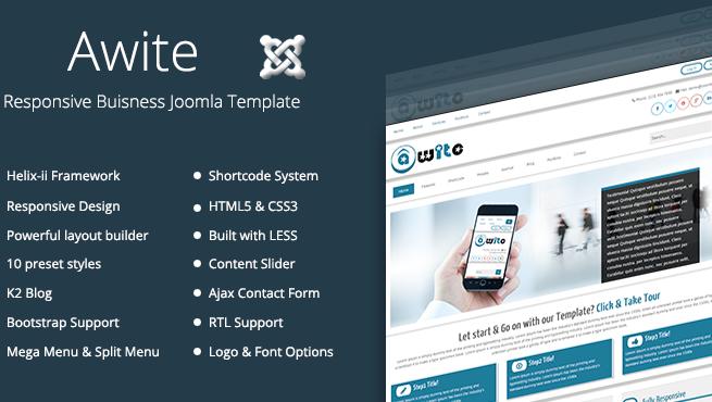 Joomla Template: TM Awite - Responsive Joomla Template