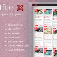 Templatemesh Joomla Template: TM Portfite - Responsive Pinterest Portfolio Joomla Template