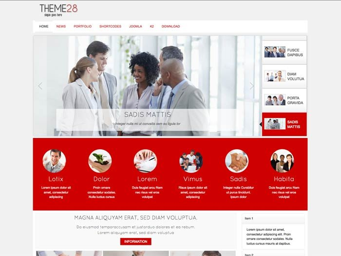 Joomla Template: Tc_theme28