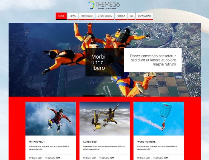 Joomla Template: Tc_theme36