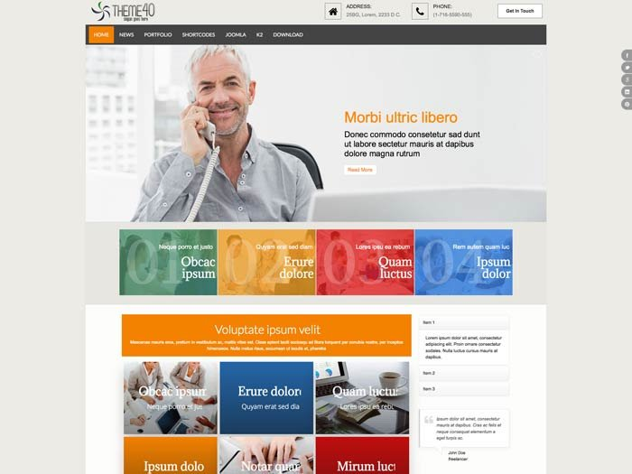 Joomla Template: Tc_theme40