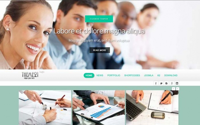 Joomla Template: Tc_theme21 - free
