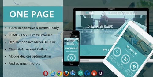 Wordpress Theme: One page wordpress theme
