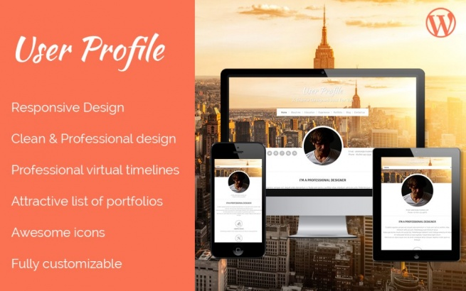 Wordpress Theme: Profile wordpress theme
