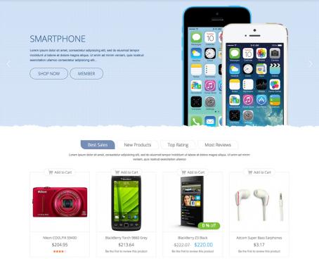 Magento Template: Responsive Magento Digital Theme