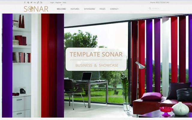 Joomla Template: SONAR - Business & Showcase
