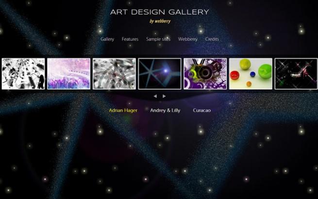 Joomla Template: Artdesign - Gallery Template
