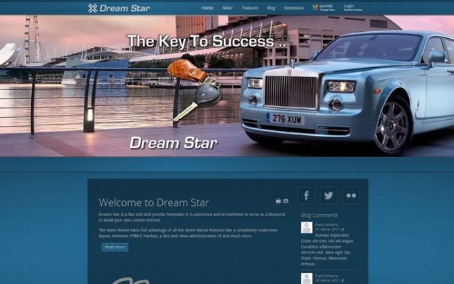 Joomla Template: Dreamstar -  Responsive Template