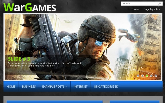 Wordpress Theme: WarGame