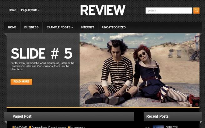 Wordpress Theme: Review