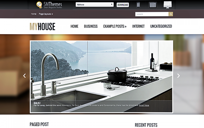 Wordpress Theme: MyHouse