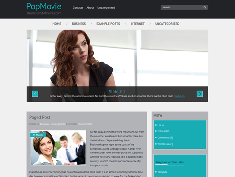 Wordpress Theme: PopMovie