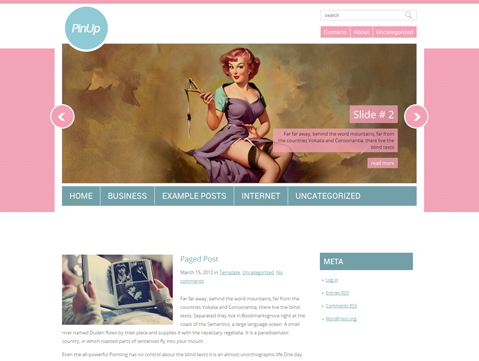 Wordpress Theme: PinUp