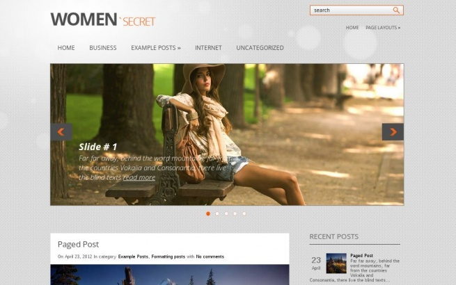 Wordpress Theme: WomanSecret