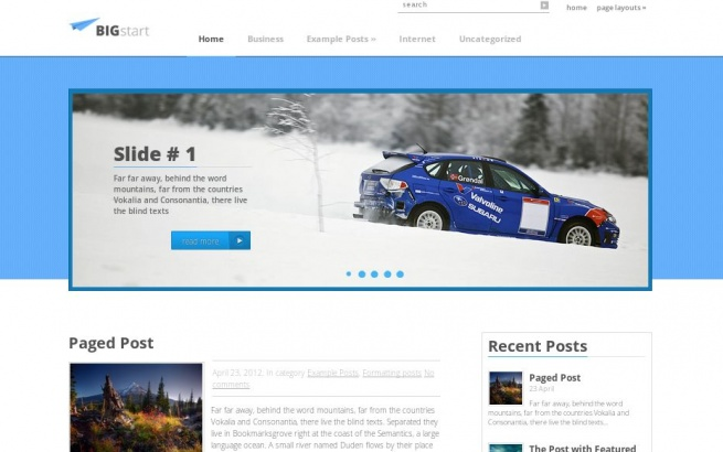 Wordpress Theme: BigStart
