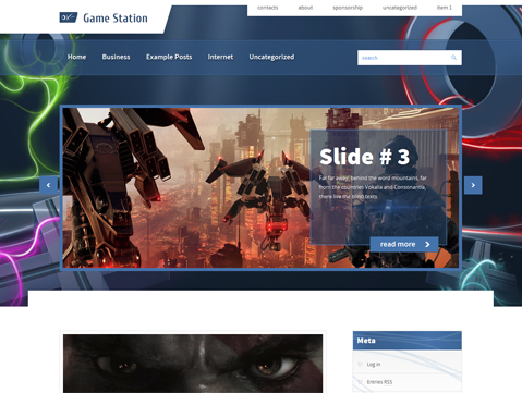 Wordpress Theme: GameStation