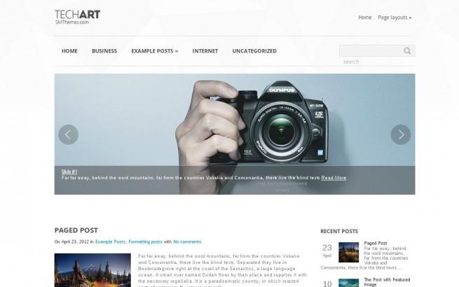Wordpress Theme: Tech Art