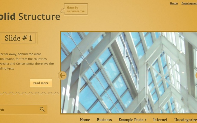 Wordpress Theme: SolidStructure