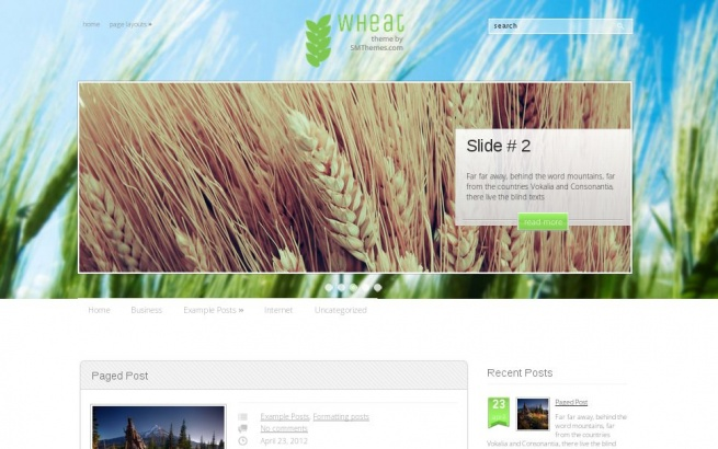 Wordpress Theme: Wheat