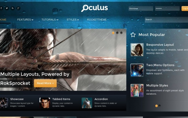 Wordpress Theme: Oculus WP