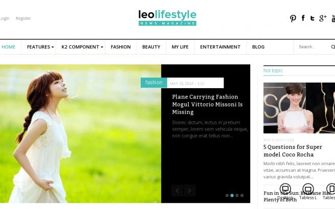Joomla Template: Leo Lifestyle Joomla Template