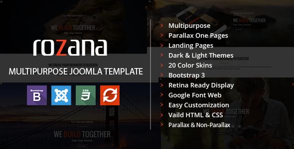 Joomla Template: Rozana - Responsive MultiPurpose Bootstrap Template