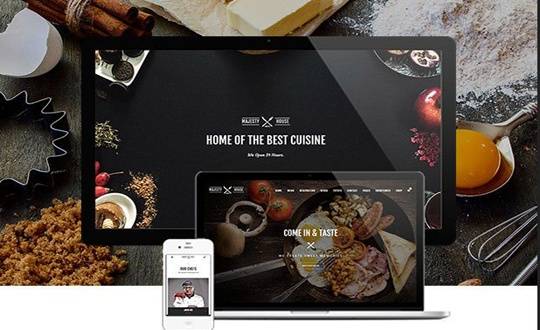 Joomla Template: Majesty Multi-Cuisine Restaurants