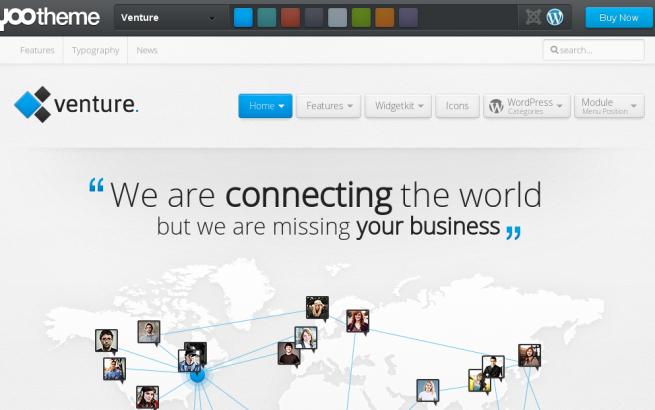 Wordpress Theme: Yootheme Venture