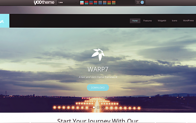 Wordpress Theme: Yootheme Lava