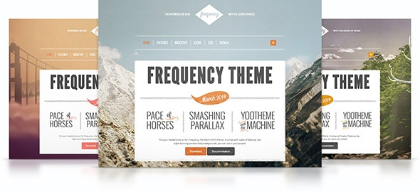 Joomla Template: Frequency Theme