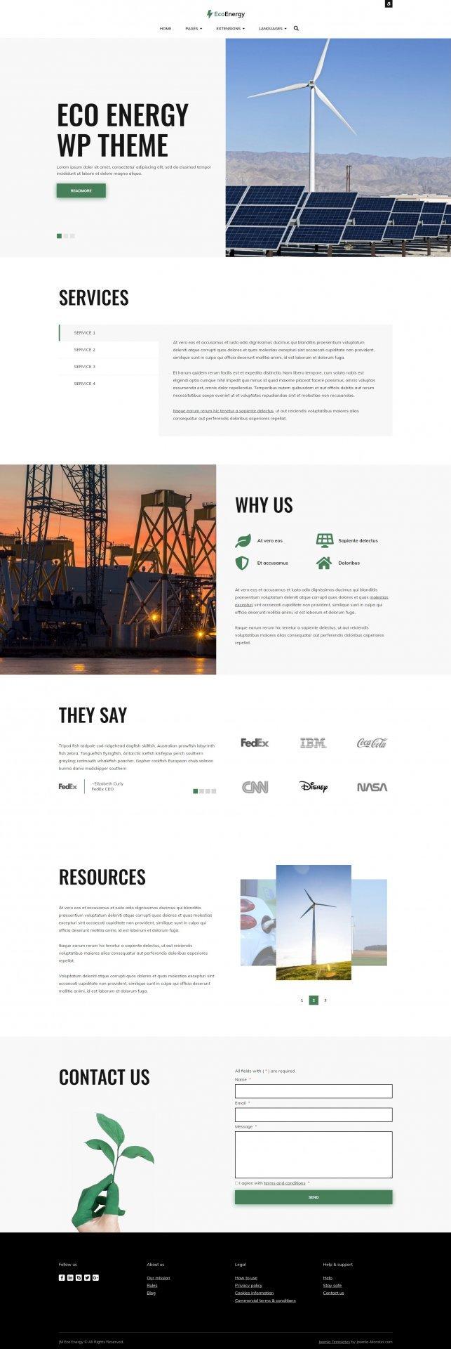 Joomla Template: JM Eco Energy