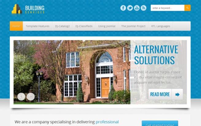 Joomla Template: JM-Building-Services