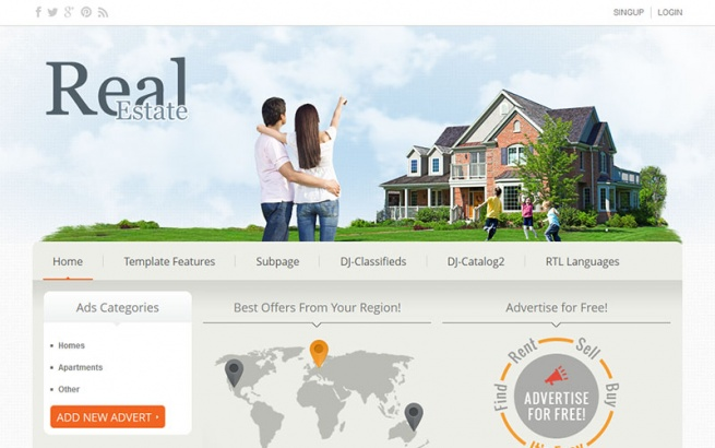 Joomla Template: DJ-Real-Estate02
