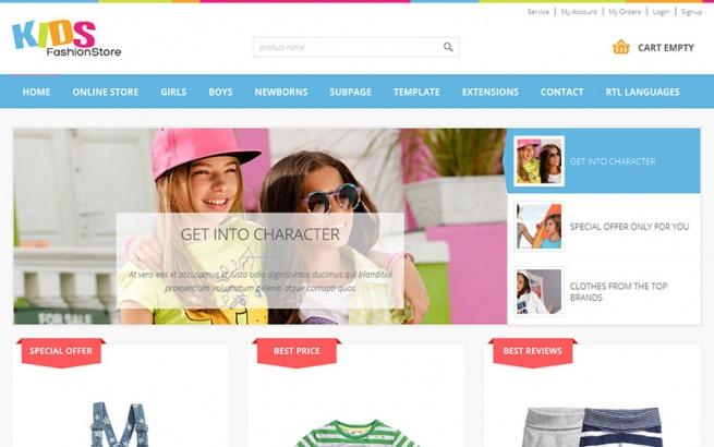 Joomla Template: JM-Kids-Fashion-Store