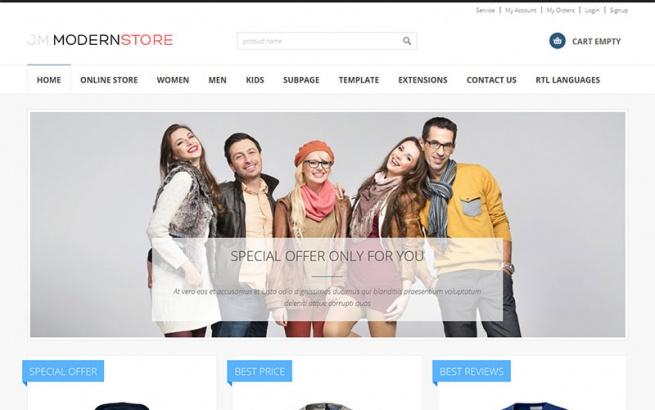 Joomla Template: JM-Modern-Store