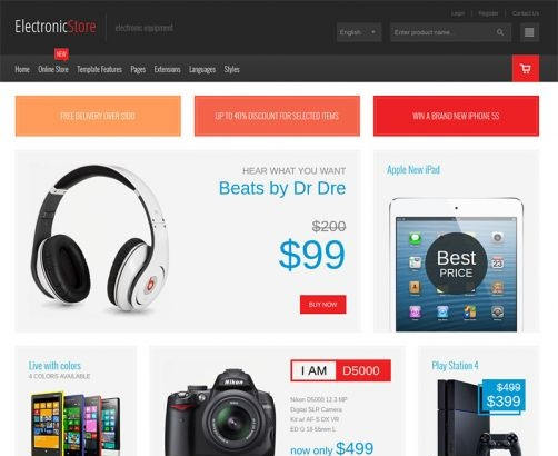 Joomla Template: JM Computers and Electronics VirtueMart Store