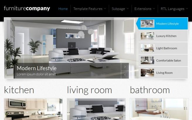Joomla Template: JM-Exclusive-Furniture