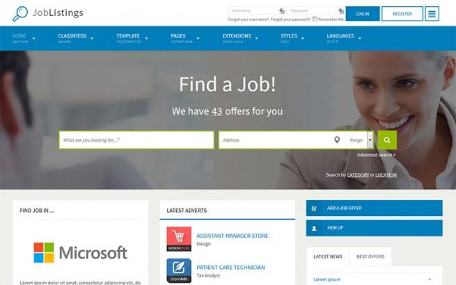 Joomla Template: JM Job Listings