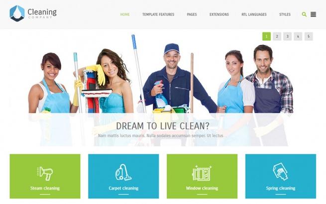 Joomla Template: JM Cleaning Company