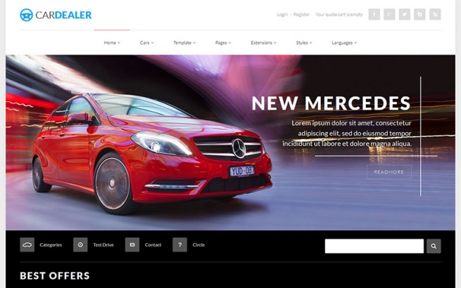 Joomla Template: JM Car Dealer
