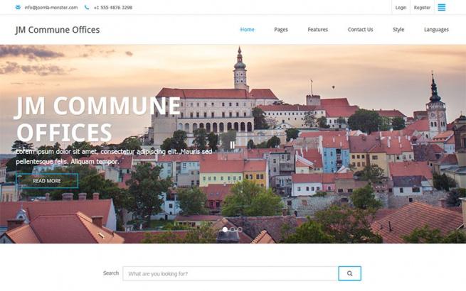 Joomla Template: JM Commune Offices