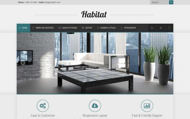 Joomla Template: J51 - Habitat