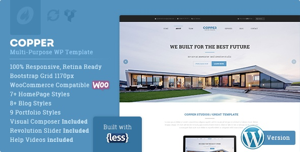 Wordpress Theme: Copper Multipurpose WP Template