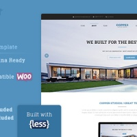 Wordpress Premium Theme - Copper Multipurpose WP Template