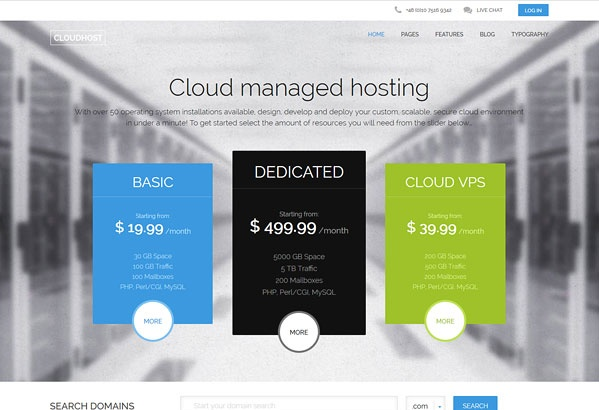 Joomla Template: CloudHost