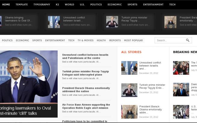 Joomla Template: Responsive Joomla! Magazine / News Template