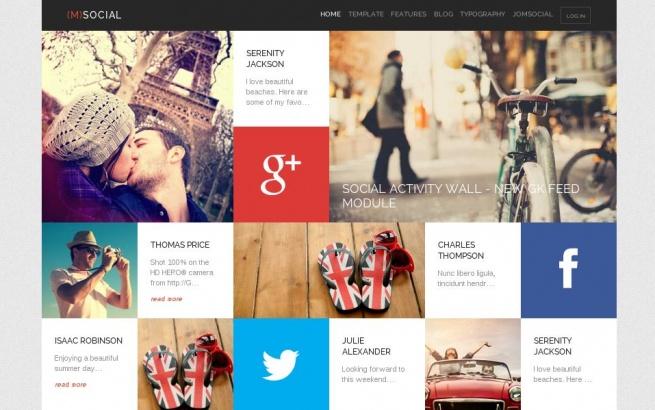 Joomla Template: (M) Social
