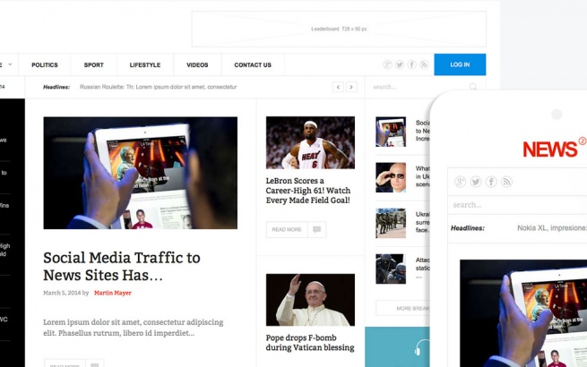 Joomla Template: News 2